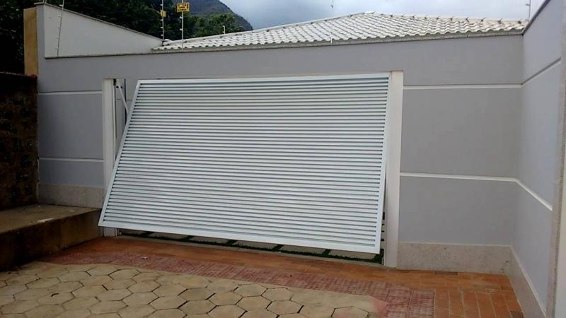 Suficiente Portões Basculantes Abertura para Dentro na Vila Medeiros - Portão  JO73